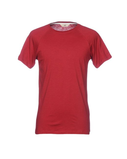 Lee Jeans - Red T-shirt for Men - Lyst