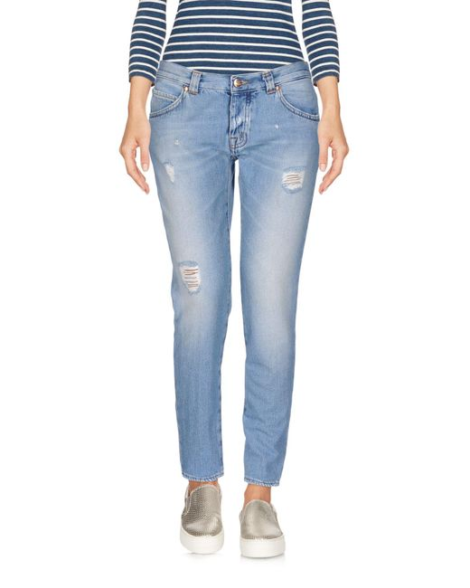 People - Blue Denim Capris - Lyst
