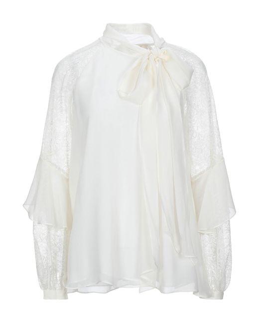 Diane von Furstenberg Blusa de mujer de color blanco wpYmE