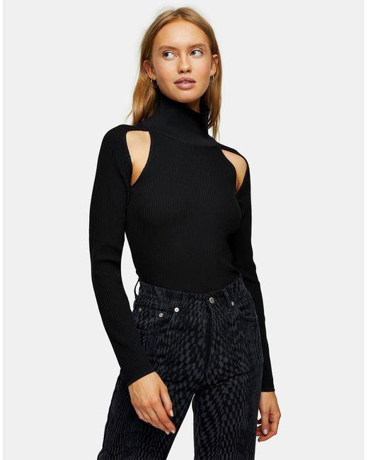 Cuello alto TOPSHOP de color Black