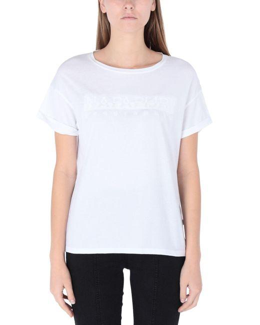 T-shirt di Napapijri in White