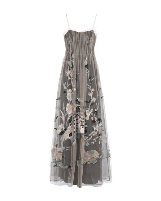 Alberta Ferretti Natural Langes Kleid