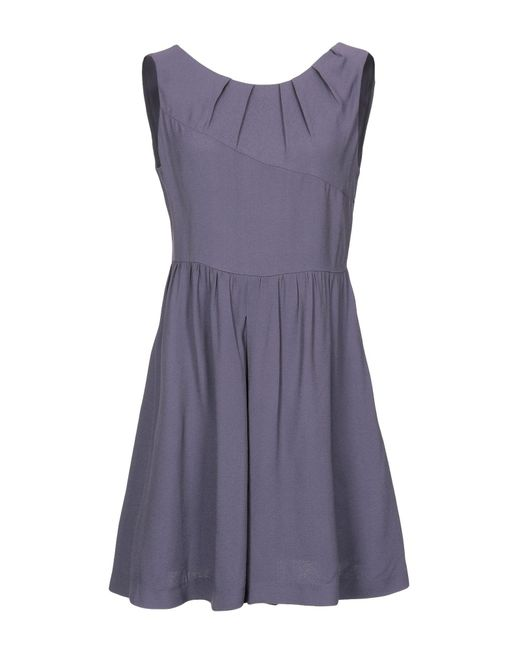 Manila Grace Blue Short Dress