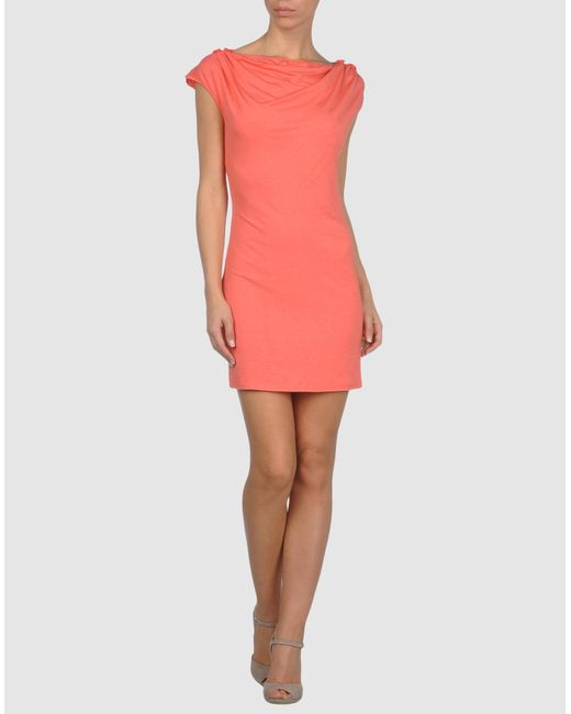 Mauro Gasperi - Pink Short Dress - Lyst