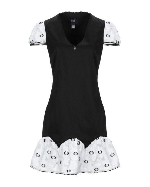 Robe courte Class Roberto Cavalli en coloris Black