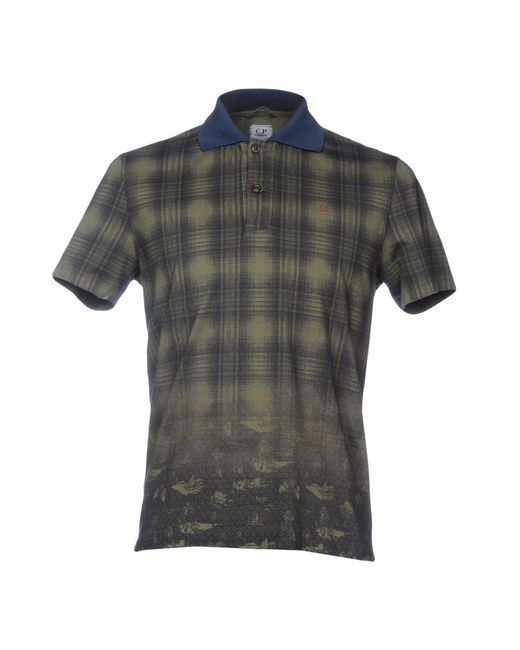 C P Company - Green Polo Shirts for Men - Lyst