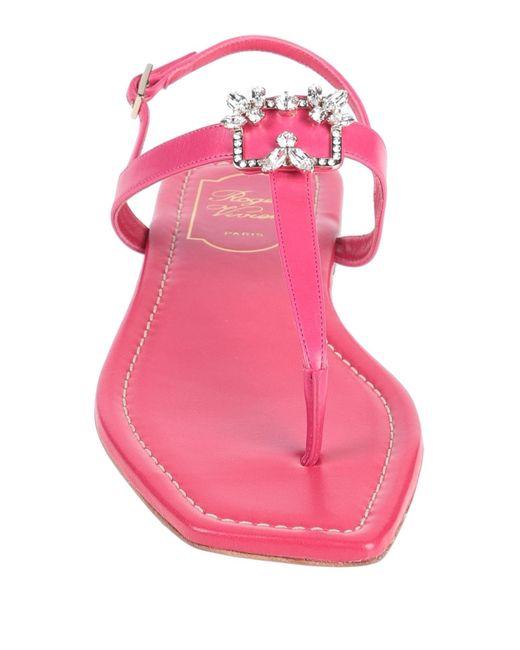 Roger Vivier Pink Toe Strap Sandal