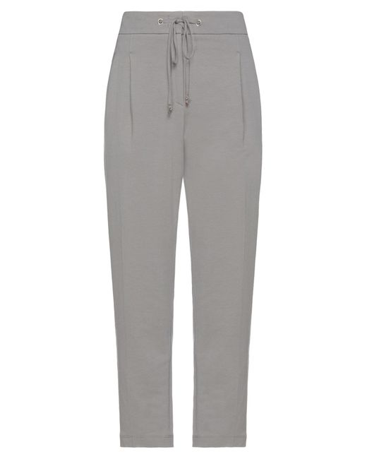 Cappellini By Peserico Gray Casual Pants