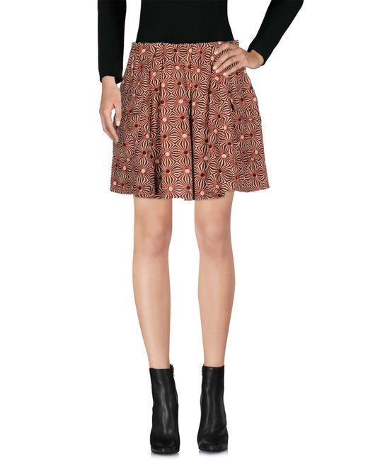 Free People - Red Mini Skirt - Lyst