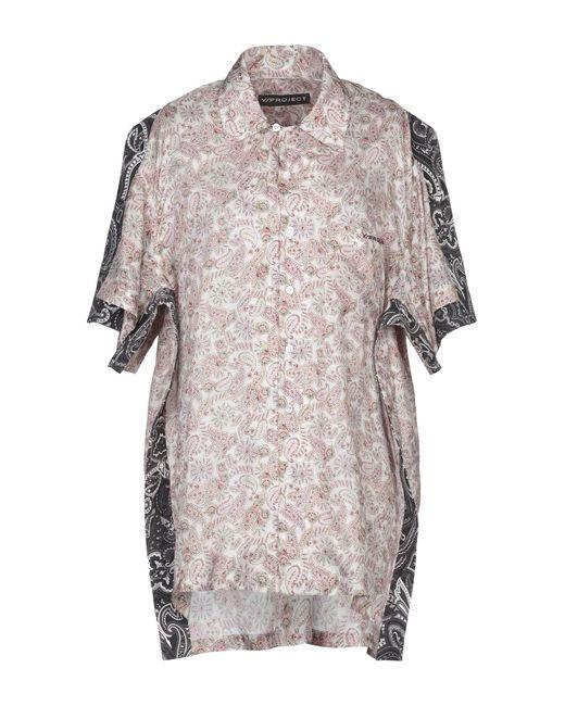 Y. Project Camisa de mujer de color neutro tR5FR