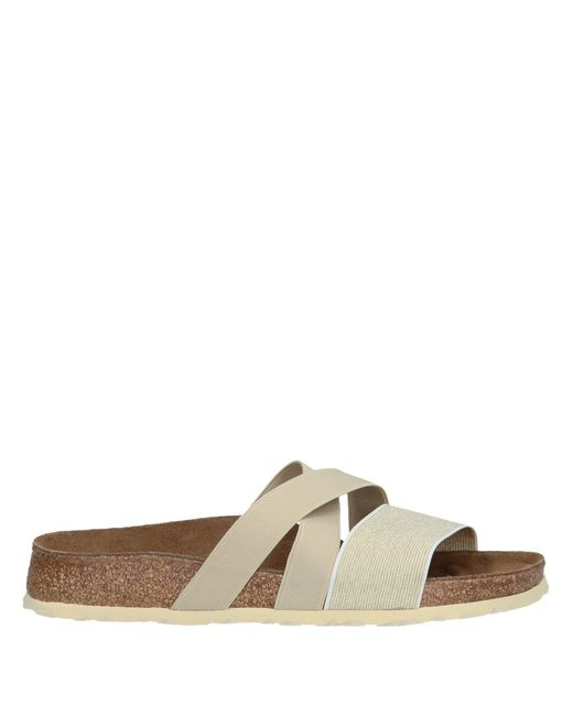 Birkenstock - Metallic Sandals - Lyst