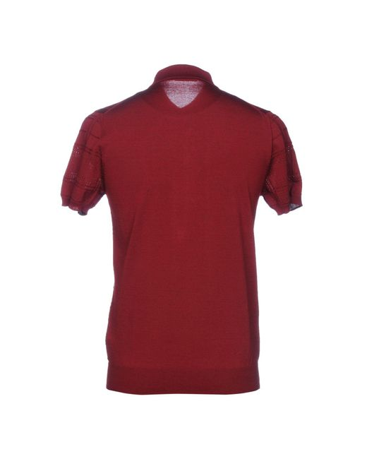 Paolo Pecora Pullover in Red für Herren