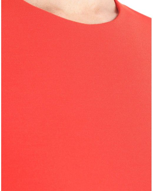 Maison Margiela Red Langes Kleid