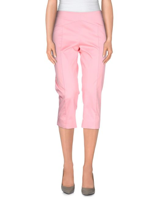 Boutique Moschino - Pink 3/4-length Shorts - Lyst