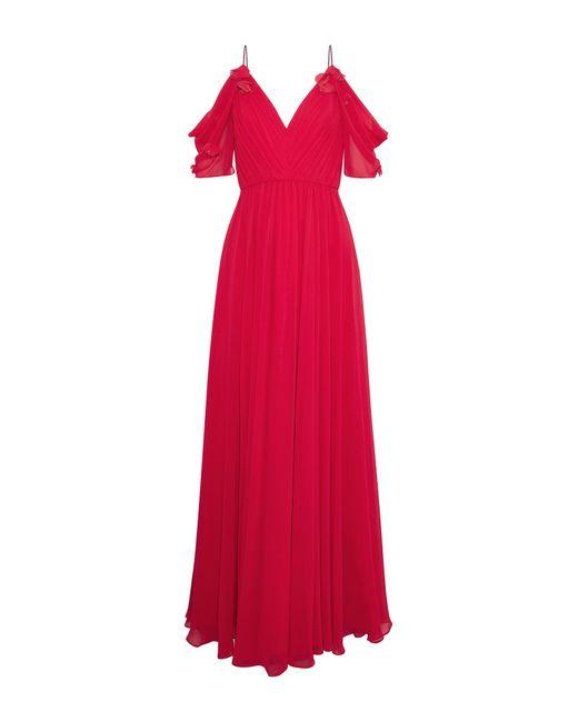 Vestido largo Badgley Mischka de color Red