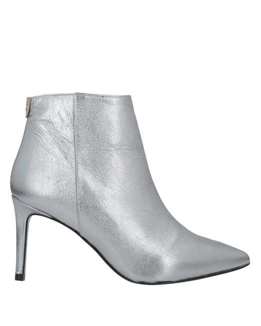 Patrizia Pepe Metallic Ankle Boots