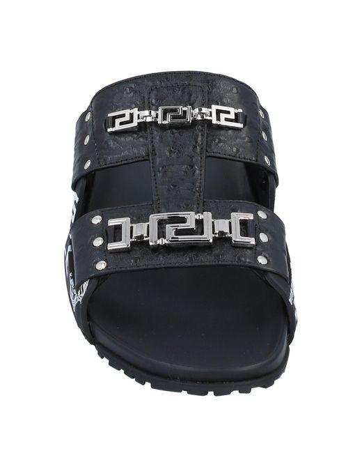 Versace Black Sandals for men