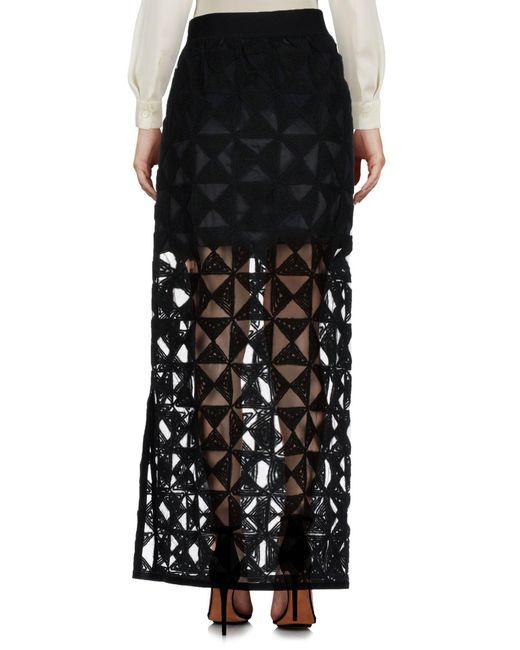 Falda larga FEDERICA TOSI de color Black