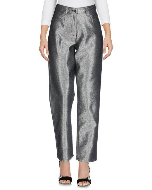 Alberta Ferretti Pantalon en jean femme de coloris métallisé