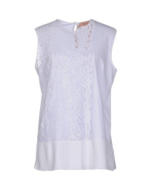 N°21 - White Top - Lyst