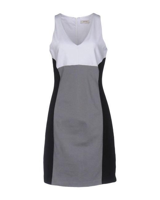 Alpha Studio - Gray Short Dress - Lyst