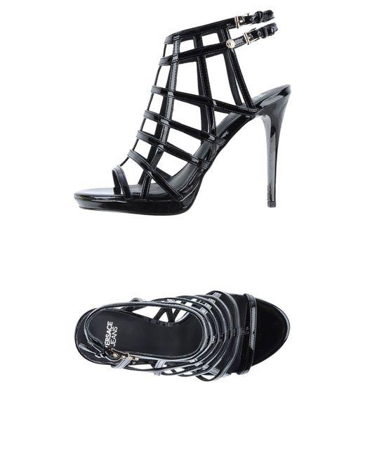 Versace Jeans - Black Sandals - Lyst