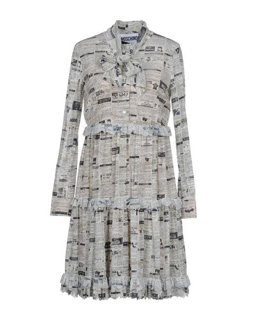Moschino - Gray Short Dresses - Lyst