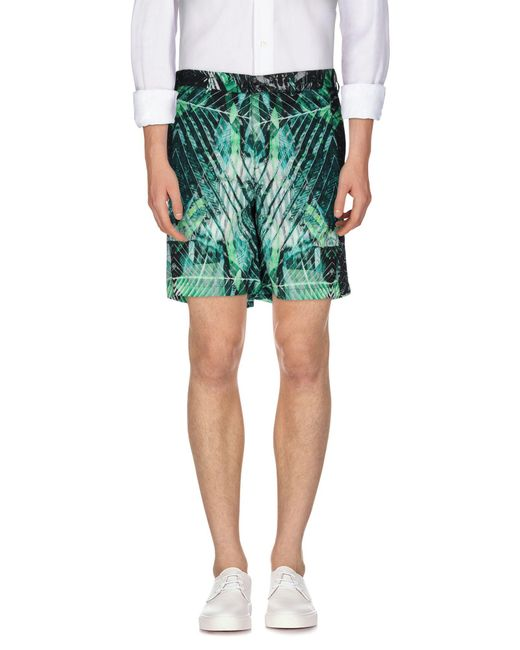 Just Cavalli - Green Bermuda Shorts for Men - Lyst