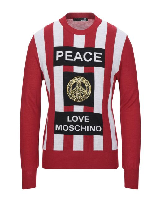 Love Moschino Red Jumper for men