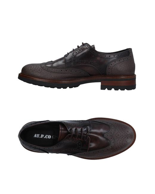 AT.P.CO Brown Lace-up Shoe for men