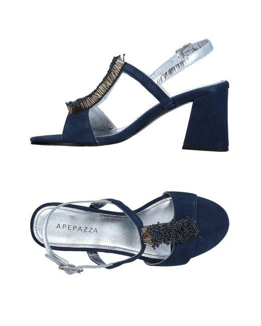 Apepazza Blue Sandals
