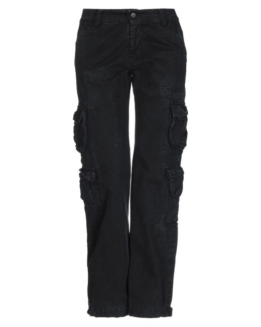 40weft Black Casual Trouser