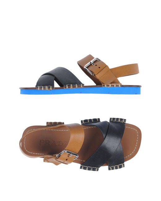Prada | Black Sandals | Lyst