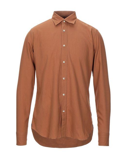 Chemise Guglielminotti pour homme en coloris Brown