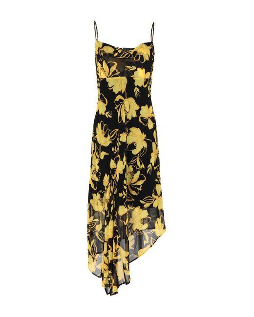 C/meo Collective Yellow 3/4 Length Dress
