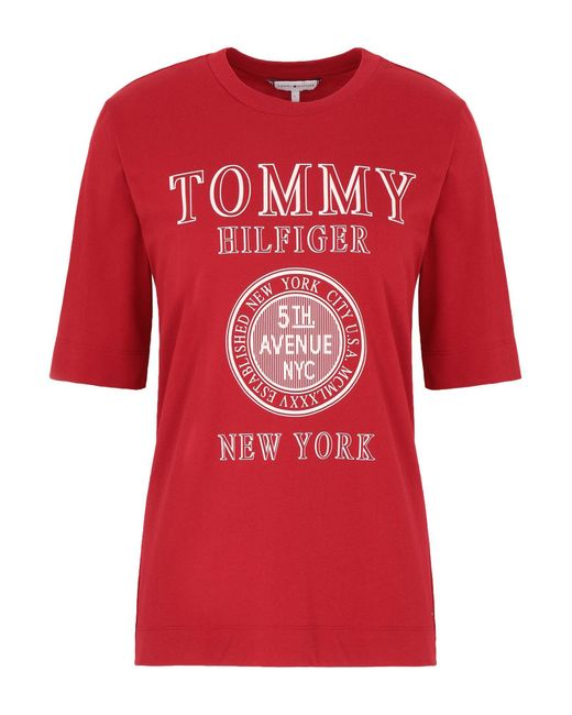 T-shirt di Tommy Hilfiger in Red