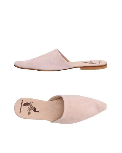 Brother Vellies - Pink Mules - Lyst