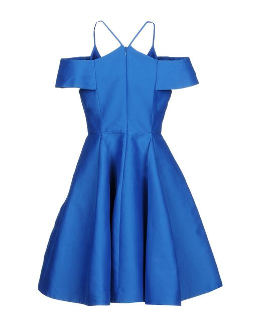Robe courte Halston Heritage en coloris Blue