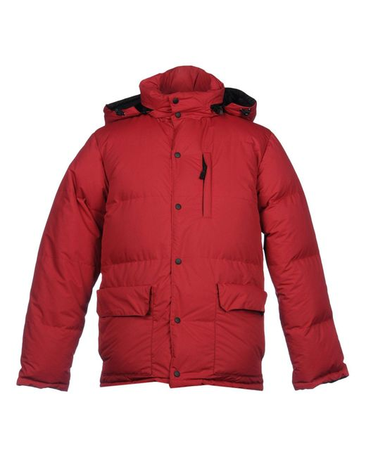 Aspesi - Red Down Jacket for Men - Lyst