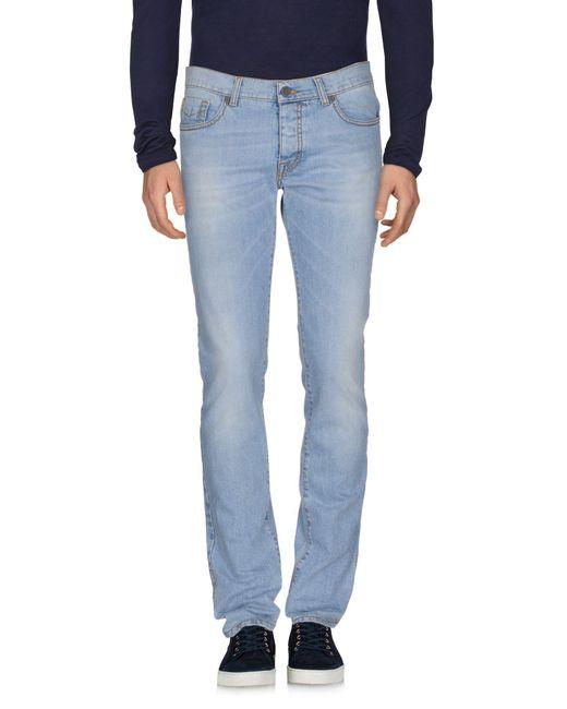 Bikkembergs Blue Denim Trousers for men