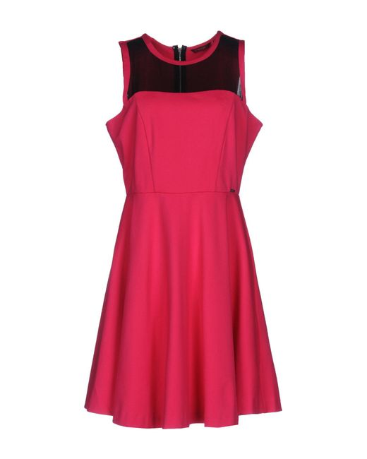 Guess - Pink Short Dresses - Lyst