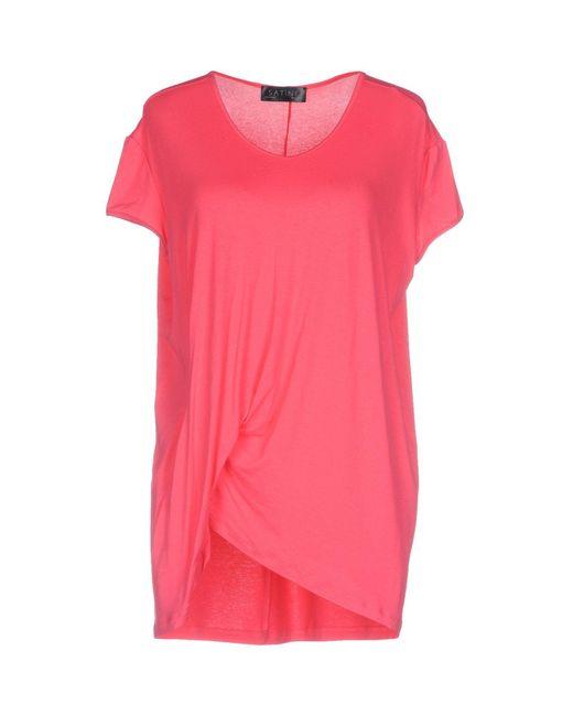 Satine Label - Pink T-shirt - Lyst