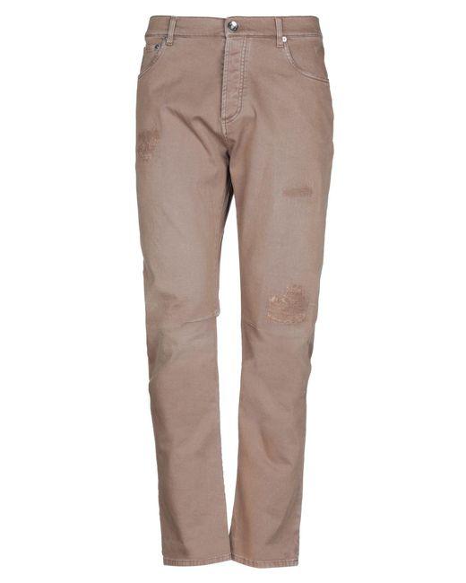 Pantaloni jeans di Brunello Cucinelli in Brown da Uomo