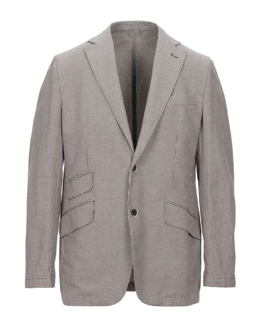 Lubiam Brown Suit Jacket for men