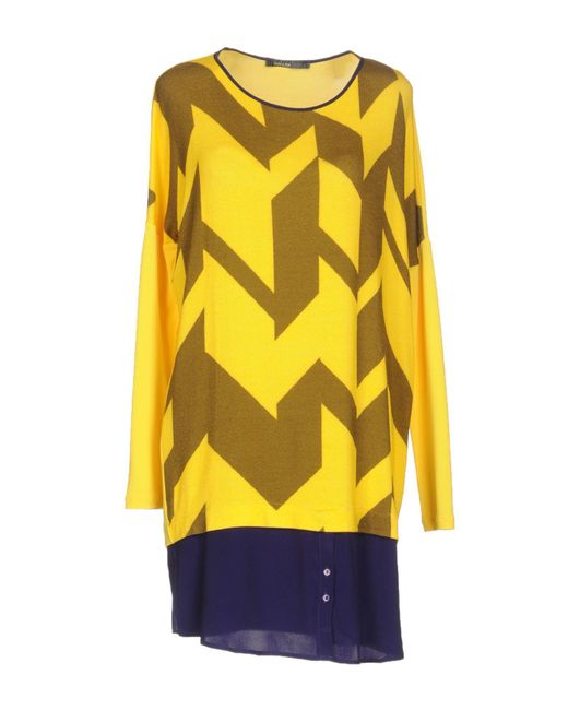 Pianurastudio - Yellow Short Dresses - Lyst