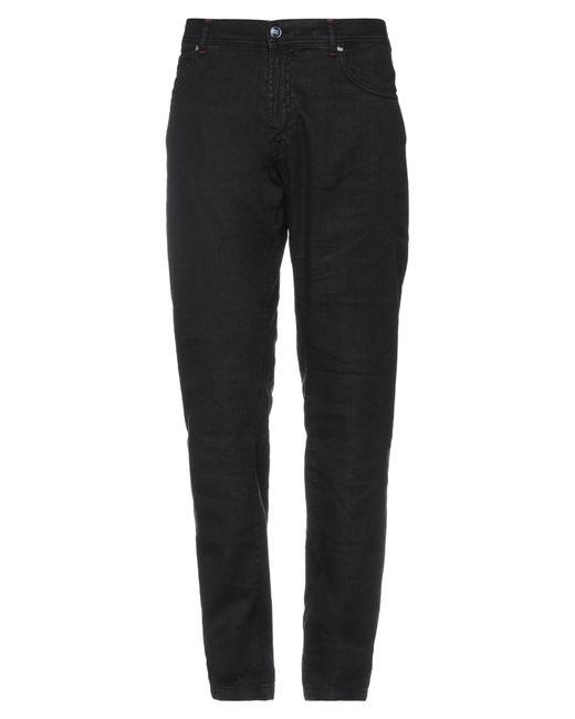 Marco Pescarolo Black Denim Trousers for men