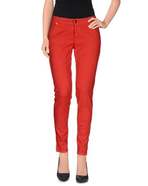 Annarita N. - Red Casual Trouser - Lyst
