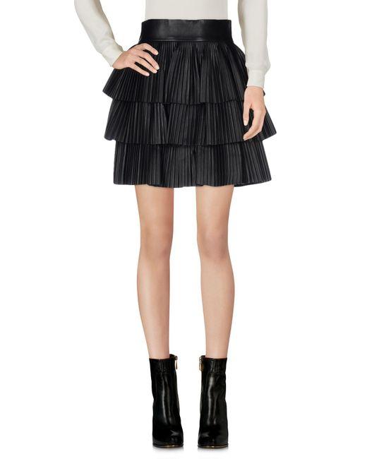 Balmain - Black Mini Skirt - Lyst