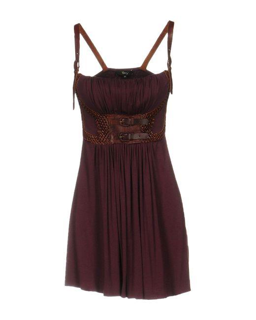 Sky - Purple Short Dress - Lyst
