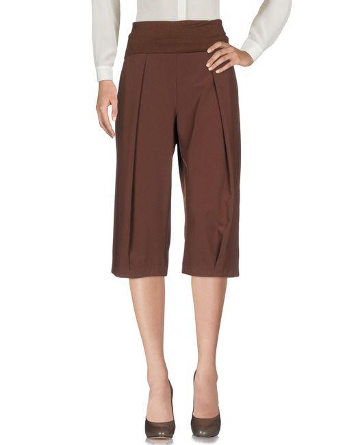 Pantalone capri di Manila Grace in Brown